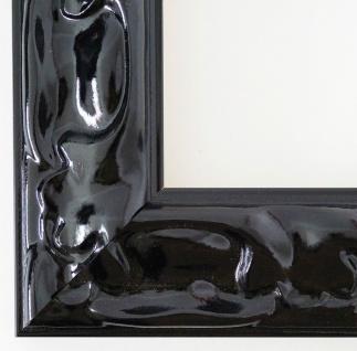 Bilderrahmen Rahmen Holz Klassisch Sylt in Schwarz Lack 5, 7 - Top Qualität