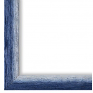 Bilderrahmen Blau Weiss Vintage Holz Pinerolo 2, 3 - 40x60 50x50 50x60 60x60