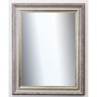Spiegel Wandspiegel Badspiegel Flur Antik Shabby Barock Trento Beige Silber 5, 4