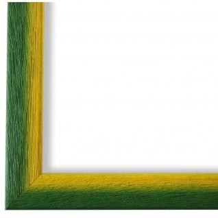 Bilderrahmen Grün Gelb Retro Vintage Holz Pinerolo 2, 3 - NEU alle Größen