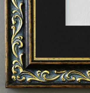 Bilderrahmen Verona in Braun Gold mit Passepartout in Schwarz 4, 4 Top Qualität