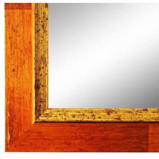 Spiegel Wandspiegel Orange Gold Modern Holz Catanzaro 3, 9 - NEU alle Größen