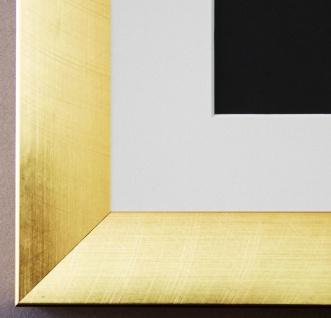 Bilderrahmen Bergamo in Gold mit Passepartout in Weiss 4, 0 Top Qualität
