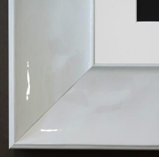Bilderrahmen Taranto Weiss Lack mit Passepartout in Weiss 7, 5 - NEU alle Größen
