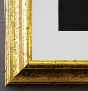 Bilderrahmen Genua in Gold mit Passepartout in Weiss 4, 3 - NEU alle Größen