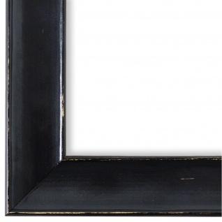 Bilderrahmen Schwarz Shabby Retro Holz Matera 3, 9 - NEU alle Größen