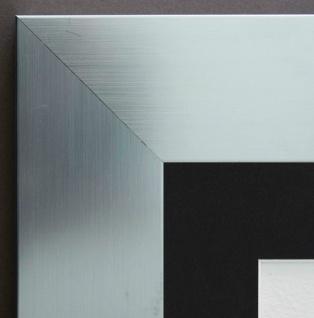 Bilderrahmen Novara in Silber Modern Passepartout in Schwarz 7, 0 - alle Größen
