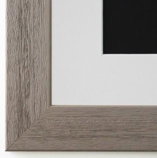Bilderrahmen Florenz in Grau struk. mit Passepartout in Weiss 4, 0 Top Qualität