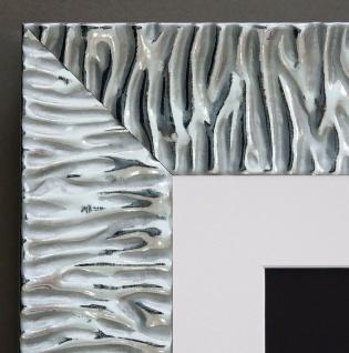 Bilderrahmen Bologna Silber Modern mit Passepartout in Weiss 6, 2 - alle Größen