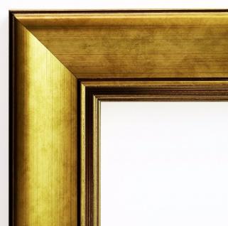 Bilderrahmen Gold Antik Modern Rahmen Holz Klassisch Flensburg 5, 5 - alle Größen