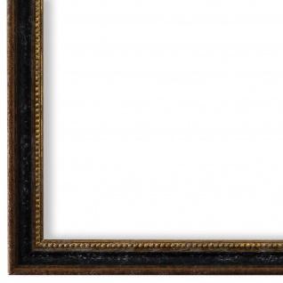 Bilderrahmen Schwarz Braun Gold Barok Rokoko Holz Empoli 1, 5 - NEU alle Größen