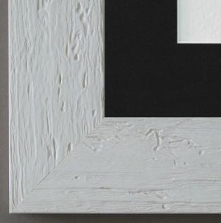 Bilderrahmen Capri in Weiss mit Passepartout in Schwarz 5, 8 - NEU alle Größen
