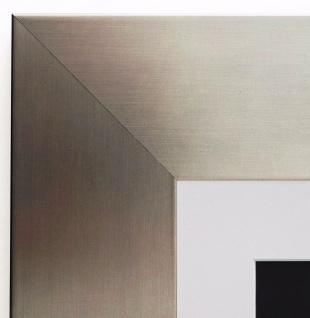 Bilderrahmen Novara dkl. Silber Modern Passepartout in Weiss 7, 0 - alle Größen