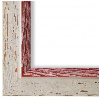 Bilderrahmen Beige Rot Retro Vintage Holz Catanzaro 3, 9 - NEU alle Größen