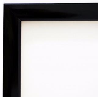 Bilderrahmen Schwarz Lack Modern Rahmen Holz Art Hannover in 2, 4 - alle Größen