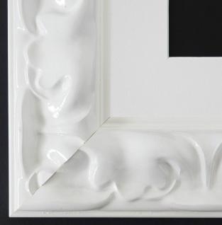Bilderrahmen Sylt in Weiß Lack mit Passepartout in Weiss 5, 7 Top Qualität