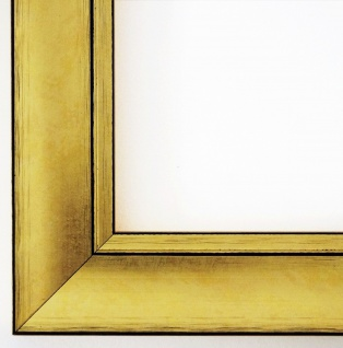 Bilderrahmen Dortmund in Gold Antik Shabby Holz Urkunde 4, 2 - alle Größen NEU