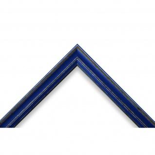 Bilderrahmen Blau Antik Holz Cosenza 2, 0 - Din A2 - Din A3 - Din A4 - Din A5 - Vorschau 3