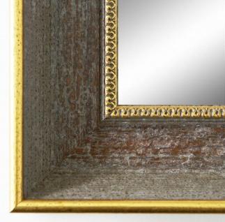Wandspiegel Hochformat Querformat Monza Antik Grau Gold 6, 7 - NEU alle Größen