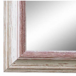 Wandspiegel Spiegel Beige Rot Vintage Retro Holz Bari 4, 4 - NEU alle Größen