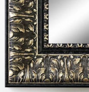 Garderobenspiegel Schwarz Silber Ancona Barock 7, 5 - alle Größen
