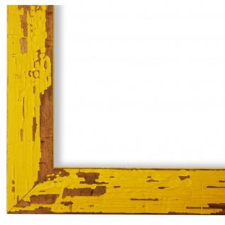 Bilderrahmen Gelb Antik Holz Cremona 3, 0 - DIN A2 - DIN A3 - DIN A4 - DIN A5