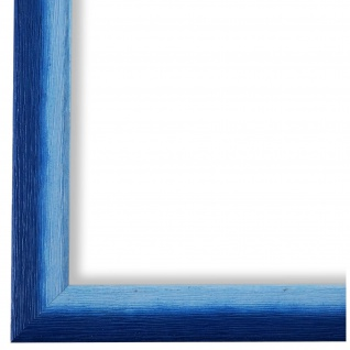 Bilderrahmen Blau Holz Pinerolo - 9x13 10x10 10x15 13x18 15x20 18x24 20x20 20x30