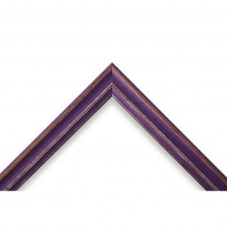 Bilderrahmen Lila Antik Shabby Holz Cosenza 2, 0 - 40x60 50x50 50x60 60x60 - Vorschau 3
