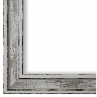 Bilderrahmen Weiss Retro Shabby Holz Lugnano 2, 8 - NEU alle Größen