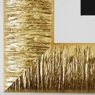 Bilderrahmen Rostock in Gold mit Passepartout in Weiss 7, 2 - Top Qualität