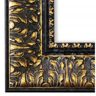 Bilderrahmen Schwarz Gold Barock Antik Vintage Ancona 7, 5 - NEU alle Größen