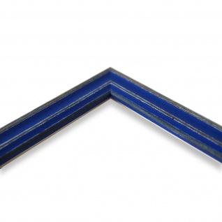 Bilderrahmen Blau Antik Holz Cosenza 2, 0 - Din A2 - Din A3 - Din A4 - Din A5 - Vorschau 4