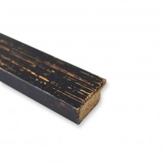 Bilderrahmen Schwarz Antik Vintage Holz Cremona 3, 0 - 40x60 50x50 50x60 60x60 - Vorschau 5