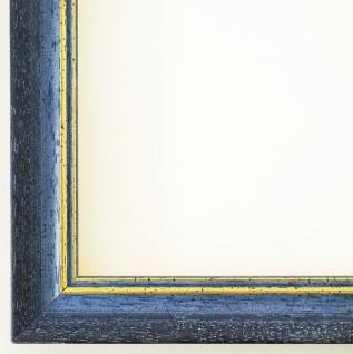 Bilderrahmen dkl. Blau Gold Braunschweig 2, 5 - DIN A2 - DIN A3 - DIN A4 - DIN A5