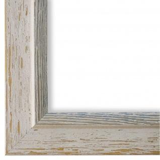 Bilderrahmen Beige hell Blau Retro Vintage Holz Catanzaro 3, 9 - NEU alle Größen