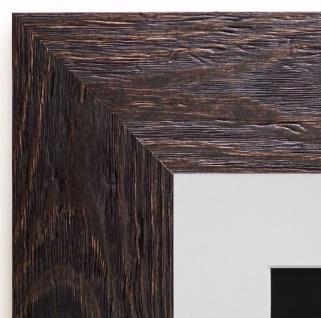 Bilderrahmen Venedig dkl. Braun maser Antik Passepartout Weiss 6, 8 -- jede Größe