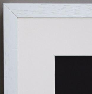 Bilderrahmen Como Weiss Struk. Modern mit Passepartout in Weiss 2, 0 - alle Größe