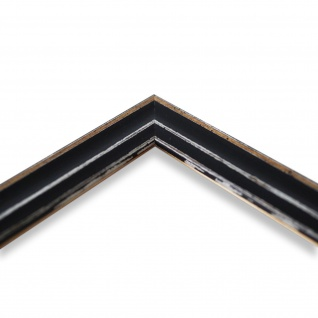 Bilderrahmen Schwarz Antik Shabby Holz Cosenza 2, 0 - NEU alle Größen - Vorschau 4