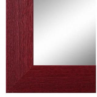 Wandspiegel Spiegel dunkel Rot Modern Retro Holz Florenz 4, 0 - NEU alle Größen