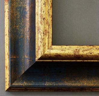 Bilderrahmen Blau Gold Antik Barock Fotorahmen Rahmen Vintage Acta 6, 8