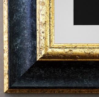 Bilderrahmen Acta in Schwarz - Gold mit Passepartout in Weiss 6, 7 Top Qualität