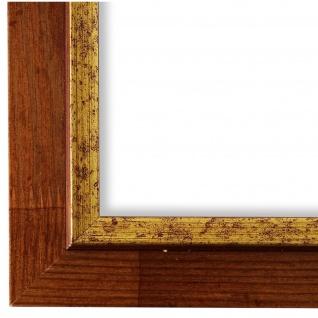 Bilderrahmen Braun Gold Retro Vintage Holz Catanzaro 3, 9 - NEU alle Größen