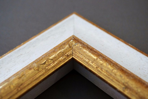 Bilderrahmen Weiß Gold Antik Barock Foto Urkunden Rahmen Holz Vintage Acta 6, 8 - Vorschau 4