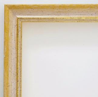 Bilderrahmen Gelb Gold Antik Rahmen Holz Klassisch Braunschweig 2, 5 alle Größen