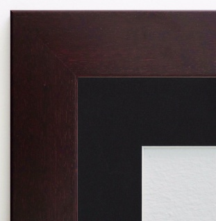 Bilderrahmen Florenz in Braun Rot Modern Passepartout Schwarz 4, 0 - alle Größen