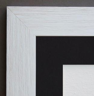 Bilderrahmen Florenz Beige Antik Passepartout in Schwarz 4, 0 - alle Größen