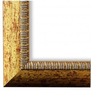 Bilderrahmen Gold Holz Turin 4, 0 - DIN A2 - DIN A3 - DIN A4 - DIN A5