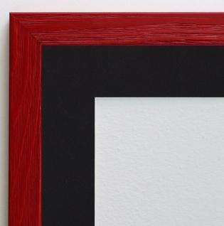 Bilderrahmen Siena in Rot Modern Passepartout in Schwarz 2, 0 - alle Größen