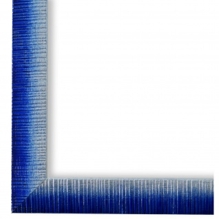 Bilderrahmen Blau Silber Holz Sorrento 2, 5 - DIN A2 - DIN A3 - DIN A4 - DIN A5