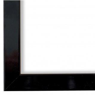 Bilderrahmen Schwarz Lack Modern Holz Como 2, 0 - NEU alle Größen